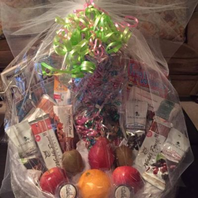 Fruit, Nut & Chocolate basket for Mom $85
